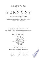 SELECTION FROM THE SERMONS