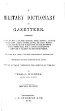 A Military Dictionary and Gazetteer