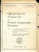 Official Class B Product List and Product Assignment Directory