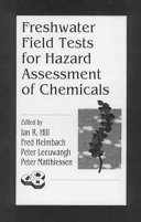Pdf Freshwater Field Tests for Hazard Assessment of Chemicals