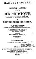 Nouveau manuel complet de musique vocale et instrumentale, ou encyclopédie musicale