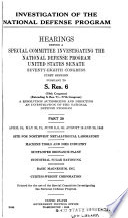 Investigation of the National Defense Program