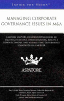 Managing Corporate Governance Issues in M A Book