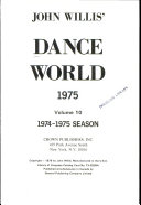 Dance World  1975 Volume 10