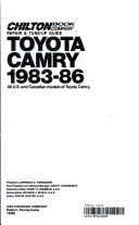 Chilton s Repair and Tune Up Guide Toyota Camry 1983 86