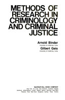 Methods Of Research In Criminology And Criminal Justice