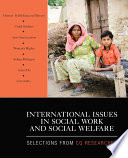 Cover of International Issues in Social Work and Social Welfare