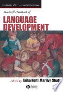 Blackwell Handbook of Language Development