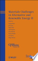 Materials Challenges in Alternative and Renewable Energy II