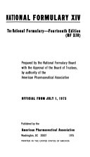 National Formulary Book PDF