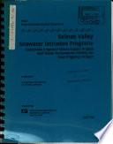 Salinas Valley Seawater Intrusion Program  Monterey County Book