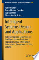 Intelligent Systems Design and Applications Book