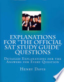 Explanations for 'The Official SAT Study Guide' Questions
