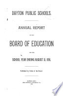 Annual Report Of The Board Of Education For The School Year Ending