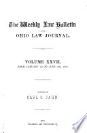 The Weekly Law Bulletin and Ohio Law Journal Pdf/ePub eBook