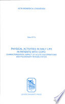 Physical Activities in Daily Life in Patients with COPD