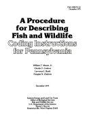 A Procedure for Describing Fish and Wildlife