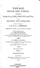 A Voyage Round the World, Performed in the Years 1785, 1786, 1787, and 1788