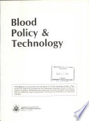 Blood Policy & Technology