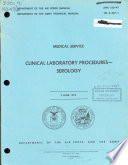 Clinical Laboratory Procedures--serology