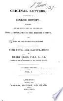 Original Letters  Illustrative of English History  1418 1529 Book