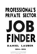 Professional's Private Sector Job Finder