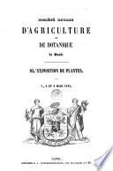 Expositions publiques de la Société d'Agriculture et de Botanique de la ville de Gand