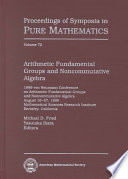 Arithmetic Fundamental Groups And Noncommutative Algebra