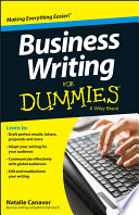 Business Writing For Dummies Book