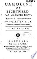 Caroline de Lichtfield. Par Madame de Montolieu