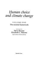 Human Choice and Climate Change  The societal framework Book PDF
