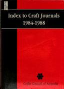 Index to Craft Journals  1984 1988  Authors