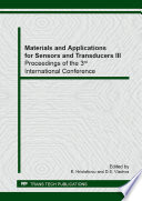 Materials and Applications for Sensors and Transducers III