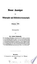 Neuer Anzeiger für Bibliographie und Bibliothekwissenschaft