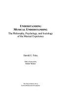 Understanding Musical Understanding Book