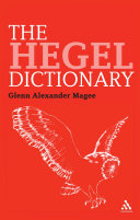 Pdf The Hegel Dictionary Telecharger