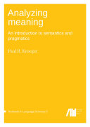 Analyzing meaning