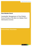 Pdf Sustainable Management of Non-Timber Forest Products. The Role of a Market Price Information System Telecharger