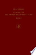 Geschichte Des Arabischen Schrifttums, Band I: Qur Nwissenschaften, H Ad T, Geschichte, Fiqh, Dogmatik, Mystik. Bis CA. 430 H