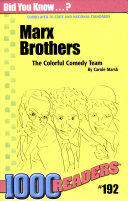 Marx Brothers   The Colorful Comedy Team