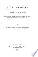 Mito Yashiki  a Tale of Old Japan Book