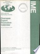 Overseas Export Promotion Calendar