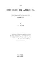 Virginia  Maryland and the Carolinas