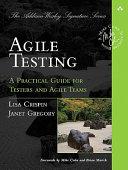 Agile Testing book cover image