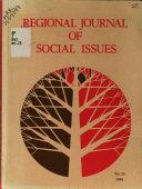 Regional Journal Of Social Issues