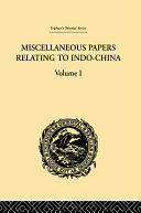 Miscellaneous Papers Relating to Indo China