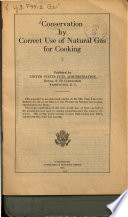 Conservation by Correct Use of Natural Gas for Cooking