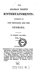 The Arabian nights' entertainments: consisting of one thousand and one stories