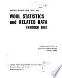 Supplement for 1961 to Wool Statistics and Related Data Through 1957