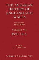 The Agrarian History Of England And Wales 3 Part Set
